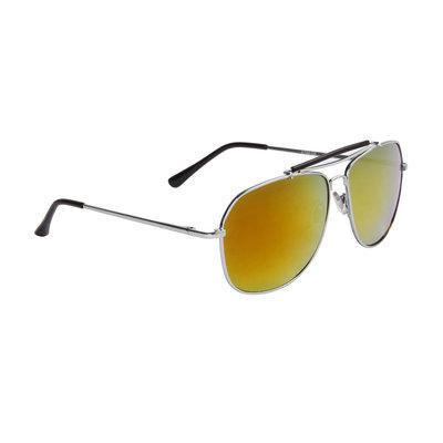 Pilotenbril, Gespiegelde glazen, Zwarte oortjes, Gele glazen