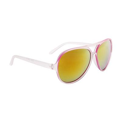 Aviator zonnebril wit-roze, Gekleurde glazen, Goud