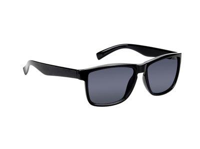 Polarized zonnebril, Jacksonville, Wayfarer zwart met donkere glazen