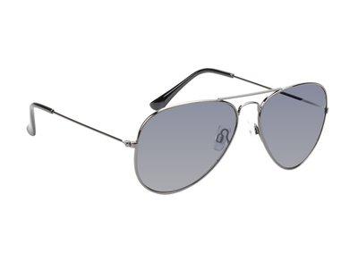 Gepolariseerde zonnebril | Pilotenbril | Zwart | Donkergrijze glazen | 135 MM