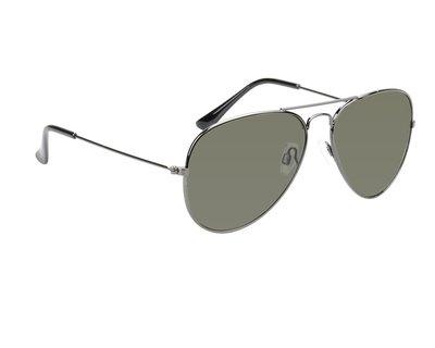 Gepolariseerde zonnebril Charlotte | Pilotenbril | Zwart | Groene glazen | 135 MM
