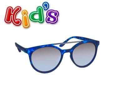 Kinderzonnebril | Blauw gemêleerd | Spiegel glazen | 127 MM