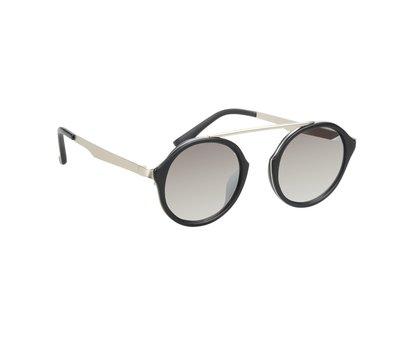 Zonnebril met ronde glazen | Zwart | 139 MM