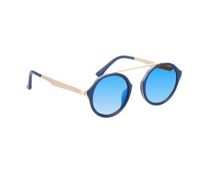 Zonnebril met ronde glazen | Blauwe glazen | 139 MM