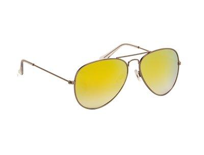 Zonnebril | Pilotenbril | Gele glazen | 140 MM
