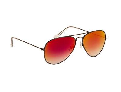 Zonnebril | Pilotenbril | Rode glazen | 140 MM