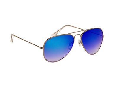 Zonnebril | Pilotenbril | Blauwe glazen | 140 MM