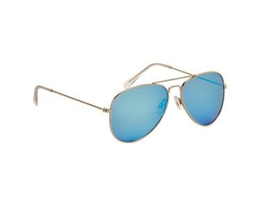 Gepolariseerde zonnebril | Pilotenbril | Blauwe glazen | 139 MM