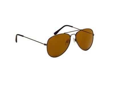 Gepolariseerde zonnebril | Pilotenbril | Bruine glazen | 139 MM
