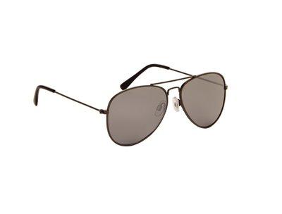 Gepolariseerde zonnebril | Pilotenbril | Grijze glazen | 139 MM