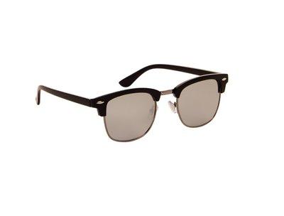 Gepolariseerde clubmster zonnebril, Las Palmas, Grijze spiegelglazen
