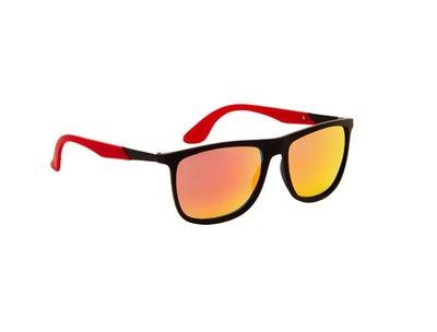 Gepolariseerde zonnebril | Zwart-Rood | 143 MM