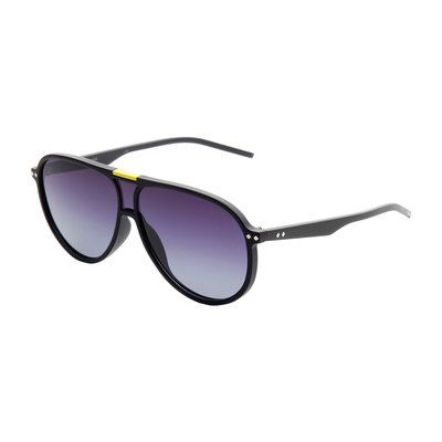 Polaroid zonnebril | Zwart-geel | Gepolariseerd | 145 MM