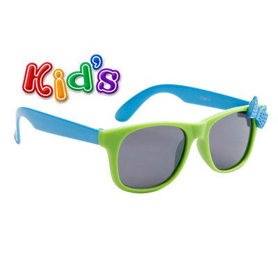 Kinderzonnebril, Wayferer met strik, Groen-blauw