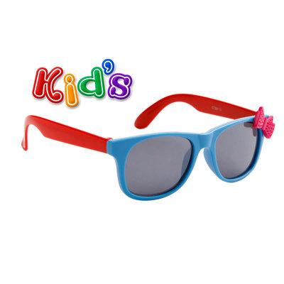 Kinderzonnebril, Wayferer met strik, Blauw-rood