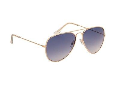 Gepolariseerde zonnebril | Pilotenbril | Lichtblauwe glazen | 140 MM