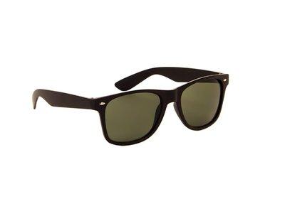Gepolariseerde zonnebril | Zwart met groene glazen | 145 MM