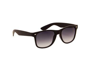Zonnebril zwart met grijze glazen | 145 MM