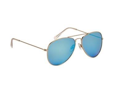 Pilotenbril | Blauwe glazen | 139 MM