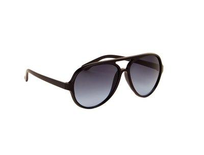 Heren zonnebril | Zwart met blauwe glazen | 140 MM