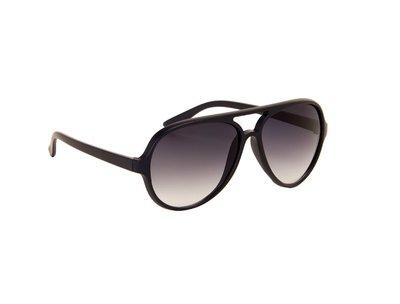 Heren zonnebril | Navy blauw met donkergrijze glazen | 140 MM