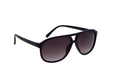 Heren zonnebril | Zwart met bruine glazen | 142 MM