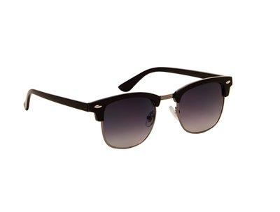 Zonnebril zwart met grijze glazen | 138 MM