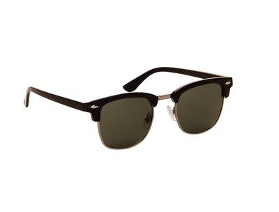 Zonnebril zwart met groene glazen | 138 MM