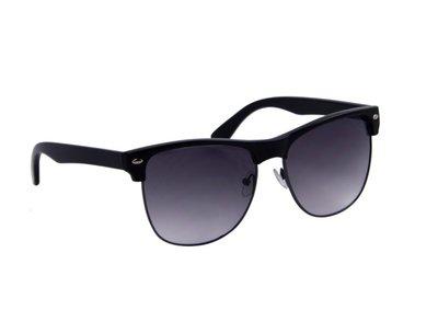 Zonnebril zwart met grijze glazen | 148 MM