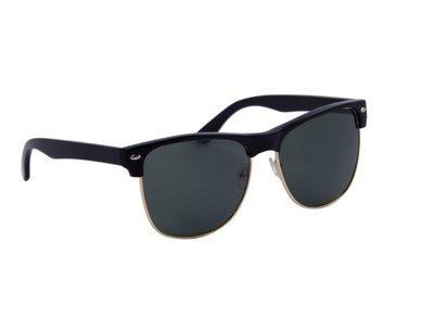 Zonnebril zwart met groene glazen | 148 MM