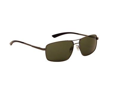 Heren zonnebril | Zwart met groene lenzen | 143 MM