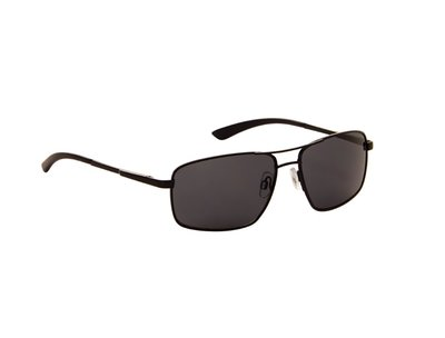 Heren zonnebril | Mat zwart met donkergrijze lenzen | 143 MM