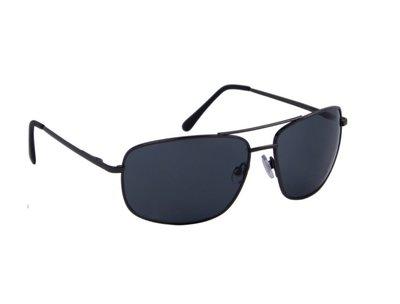 Heren zonnebril | Zwart met donkergrijze lenzen | 147 MM