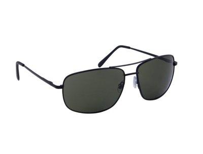 Heren zonnebril | Zwart met groene lenzen | 147 MM