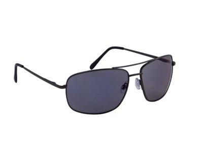 Heren zonnebril | Zwart met lichtgrijze lenzen | 147 MM