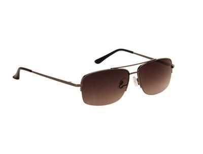 Heren zonnebril | Zwart met bruine lenzen | 141 MM