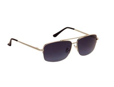 Heren zonnebril | Zilver met donkergrijze lenzen | 141 MM