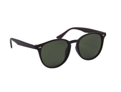 Houtlook zonnebril | Bruin met groene glazen | 145 MM