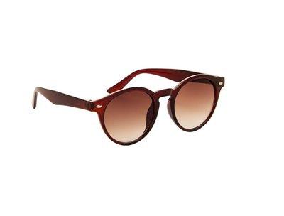 Gepolariseerde dames zonnebril | Ronde zonnebril | Bruin | 142 MM