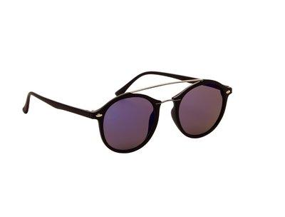 Gepolariseerde zonnebril | Zwart met paars-blauwe glazen | 137 MM