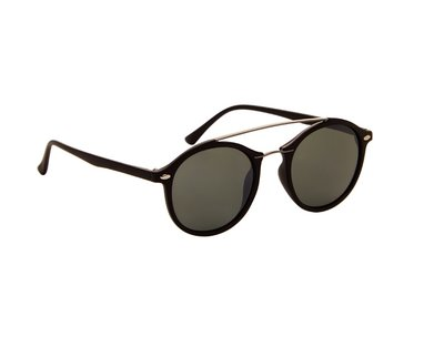 Gepolariseerde zonnebril | Zwart met groene glazen | 137 MM