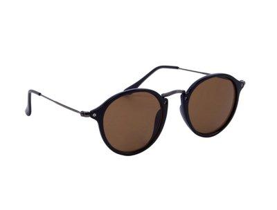 Dames zonnebril | Gepolariseerd | Zwart met bruine glazen | 142 MM