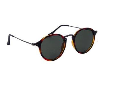 Dames zonnebril | Gepolariseerd | Bruin-zwart met donkergrijze glazen | 142 MM