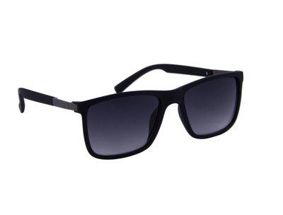 Gepolariseerde zonnebril | Zwart met grijze glazen | 140 MM