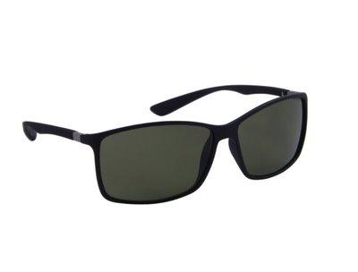 Gepolariseerde heren zonnebril | Zwart met groene lenzen | 140 MM