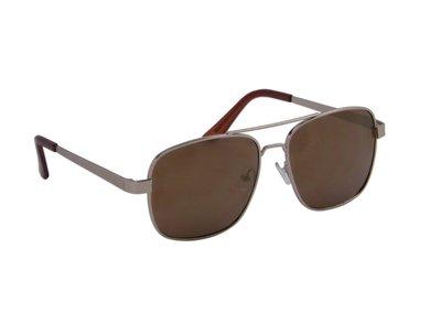 Gepolariseerde heren zonnebril | Zilver | 140 MM
