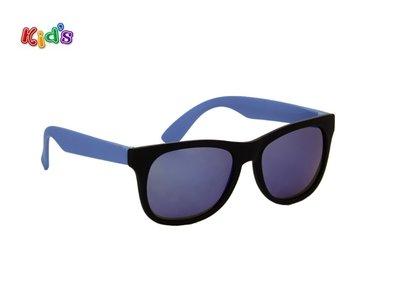 Kinderzonnebril | Zwart-blauw | 130 MM