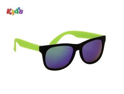 Kinderzonnebril | Zwart-groen | 130 MM