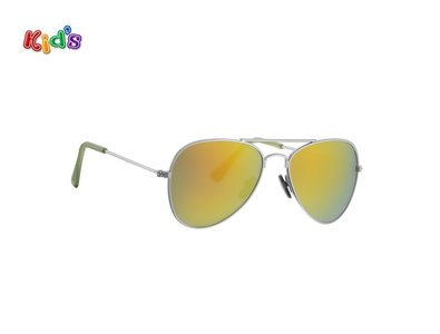 Kinderzonnebril | Pilotenbril | Oranje glazen | 124 MM