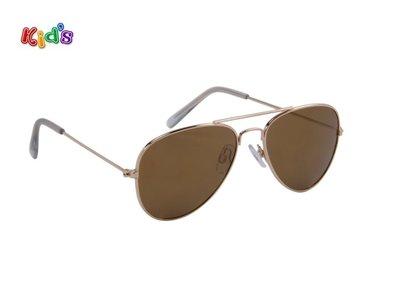 Kinderzonnebril | Pilotenbril | Bruin | 129 MM